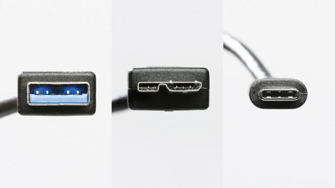 USB-A / USB-B / USB-C©COMPUTER BILD
