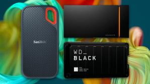 Externe SSDs im Test©Sandisk, Seagate, WD, iStock.com/piranka
