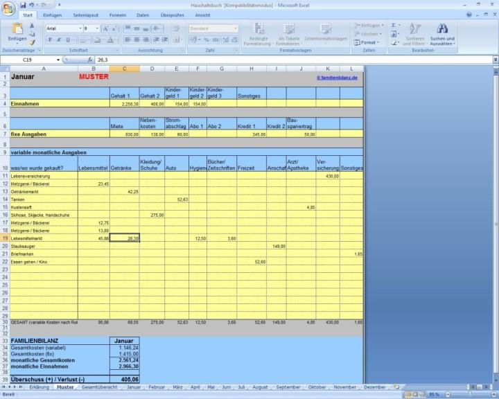 Familienbilanz-Haushaltsbuch 1.03 - Download - COMPUTER BILD
