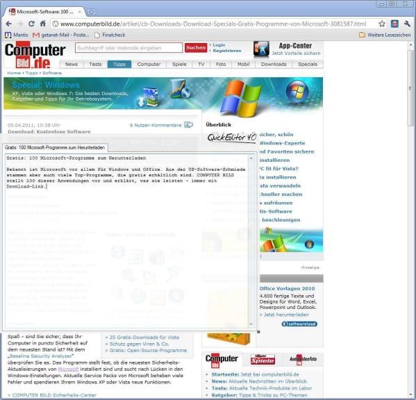 Screenshot 1 - QuickEditor