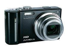 Panasonic Lumix DMC-TZ10 Der Empfänger für Positionsdaten ist oben im Kameragehäuse untergebracht und fällt kaum auf.©Im Test: Panasonic Lumix DMC-TZ10