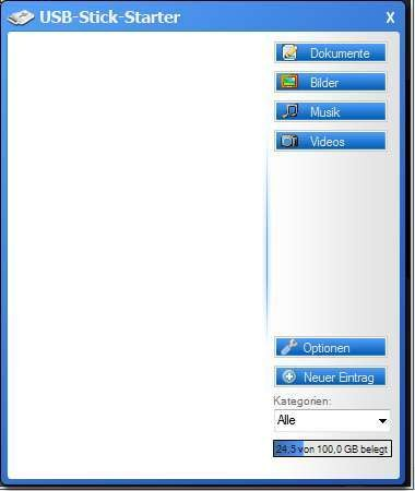 Screenshot 1 - USB-Stick-Starter