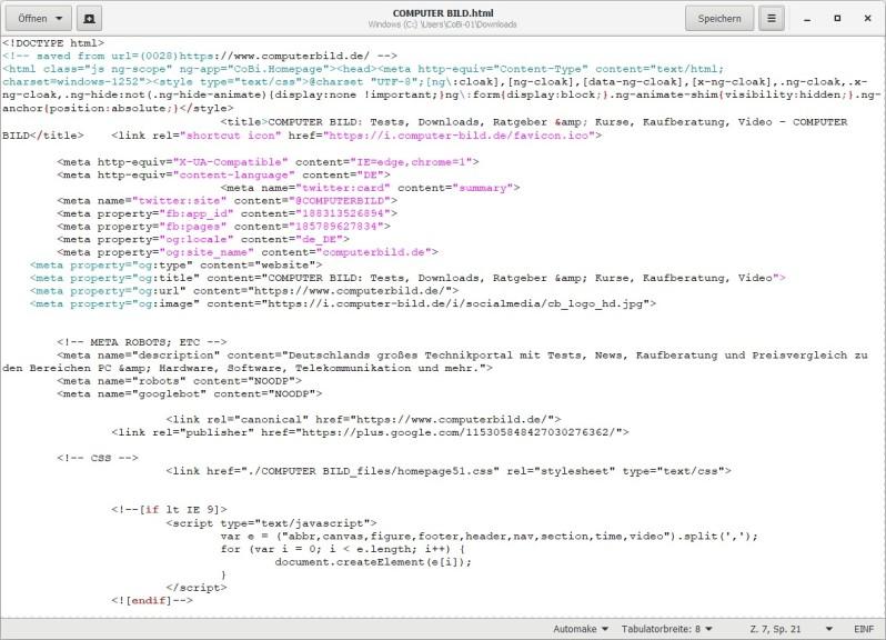 Screenshot 1 - gedit