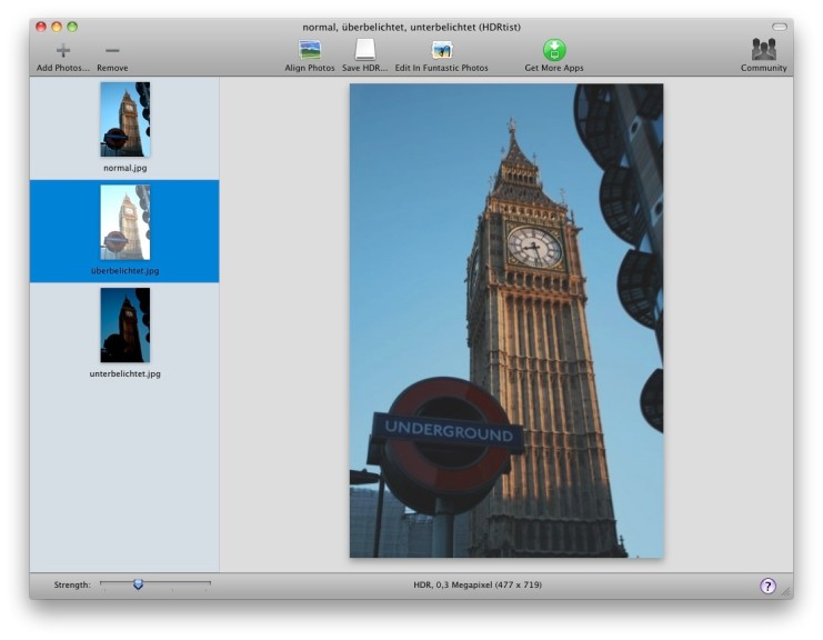 Screenshot 1 - HDRtist (Mac)