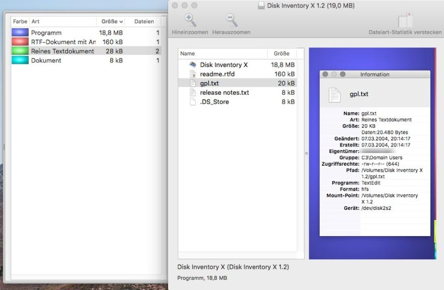 Screenshot 1 - Disk Inventory X (Mac)