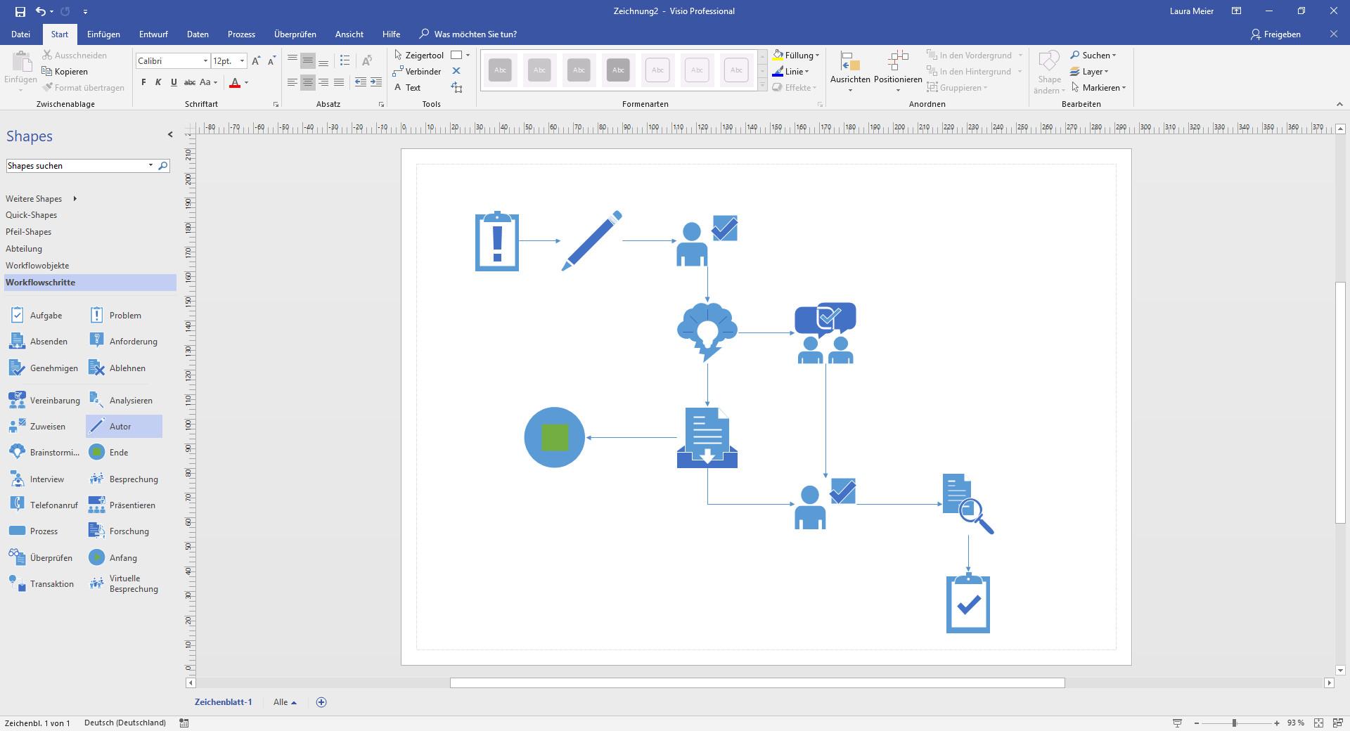 Screenshot 1 - Microsoft Visio Professional 2021