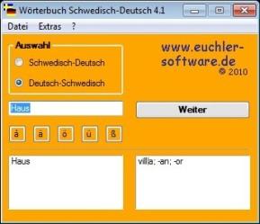 Wörterbuch Schwedisch-Deutsch