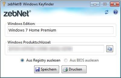 Screenshot 1 - Windows Keyfinder