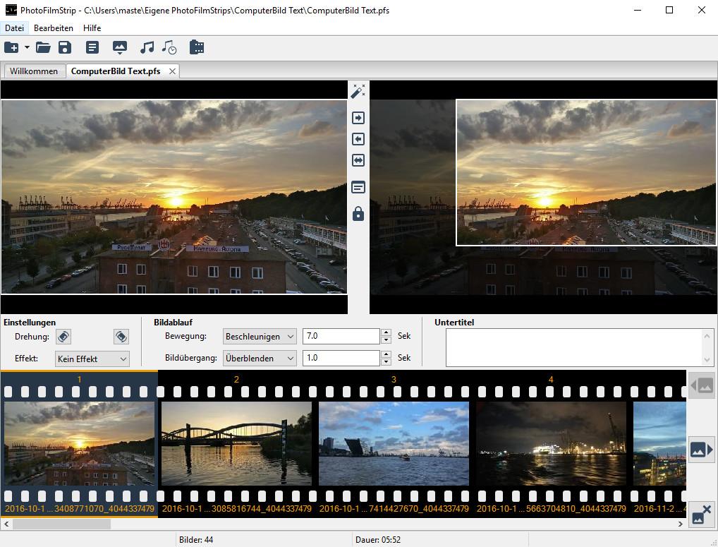 Screenshot 1 - PhotoFilmStrip