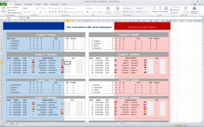 Fußball-EM-Planer 2016 für Excel