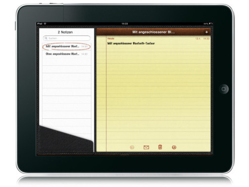 Notizen auf dem iPad © Apple