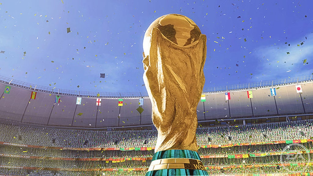 WM-Pokal im Stadion