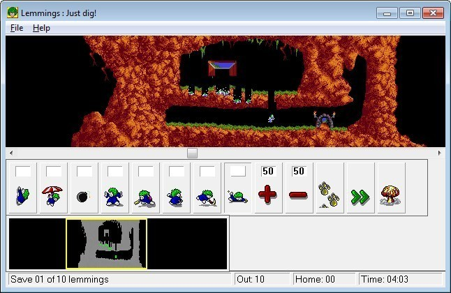 Screenshot 1 - Lemmings