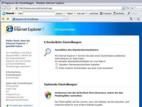 Internet Explorer 7 © Screenshot