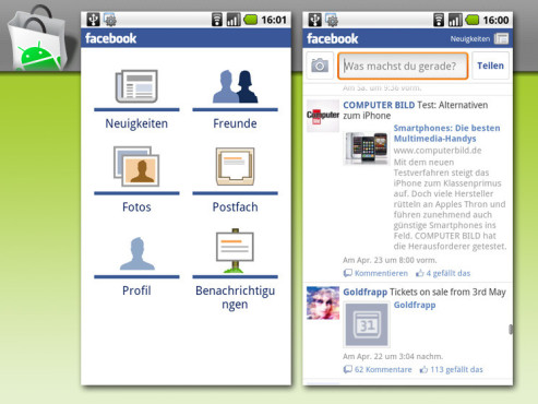 Android App: Facebook