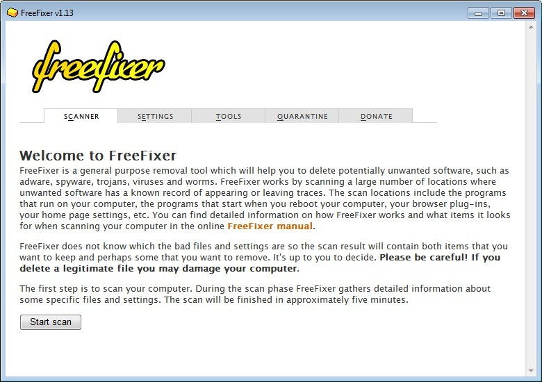 Screenshot 1 - FreeFixer