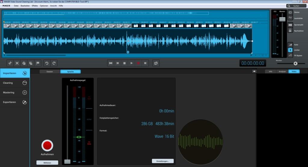 Screenshot 1 - Magix Video Sound Cleaning Lab