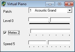 Screenshot 1 - Tiny Virtual Piano