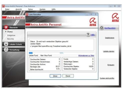 Avira AntiVir Premium ©Screenshot