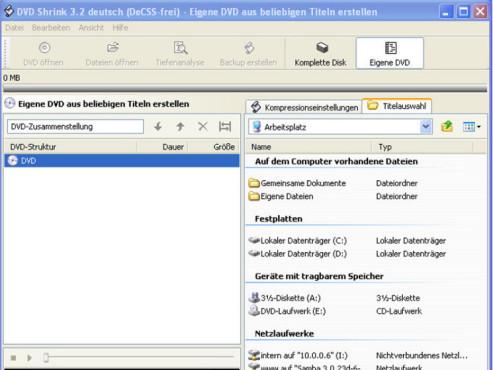 DVD Shrink DeCSS-Frei ©Screenshot
