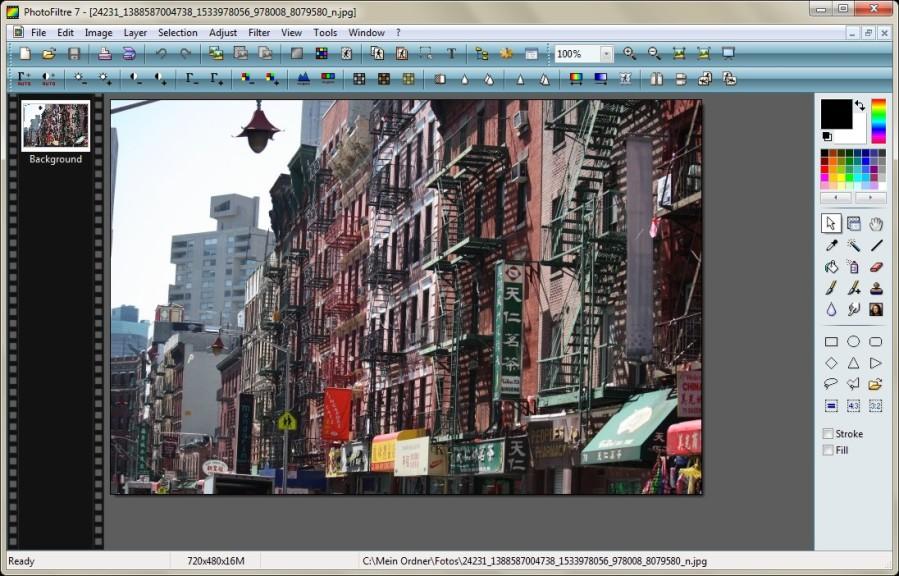 Screenshot 1 - PhotoFiltre Portable