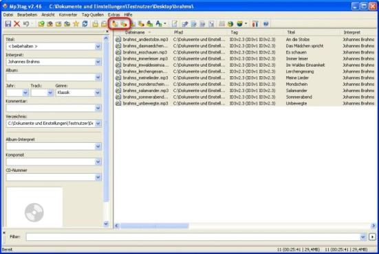 Mp3tag: ID3-Tags aus Dateinamen auslesen