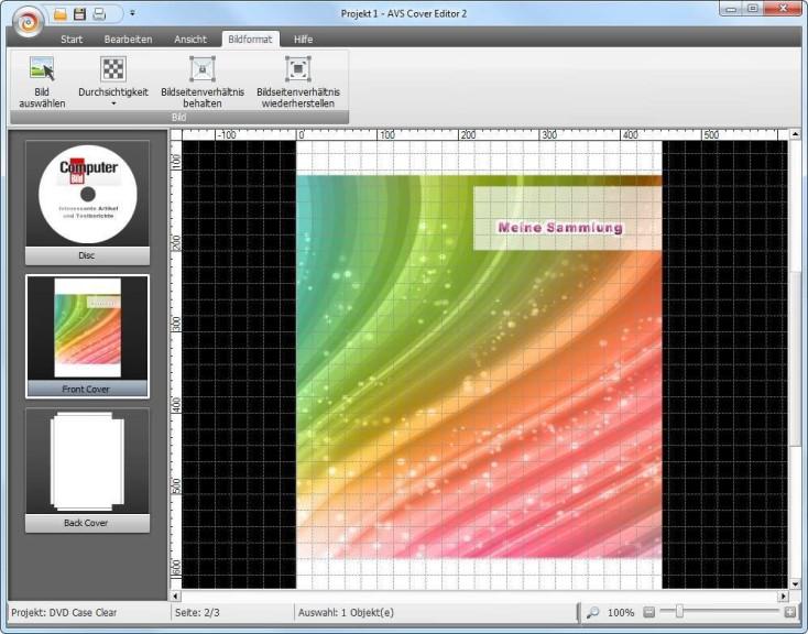 Screenshot 1 - AVS Cover Editor