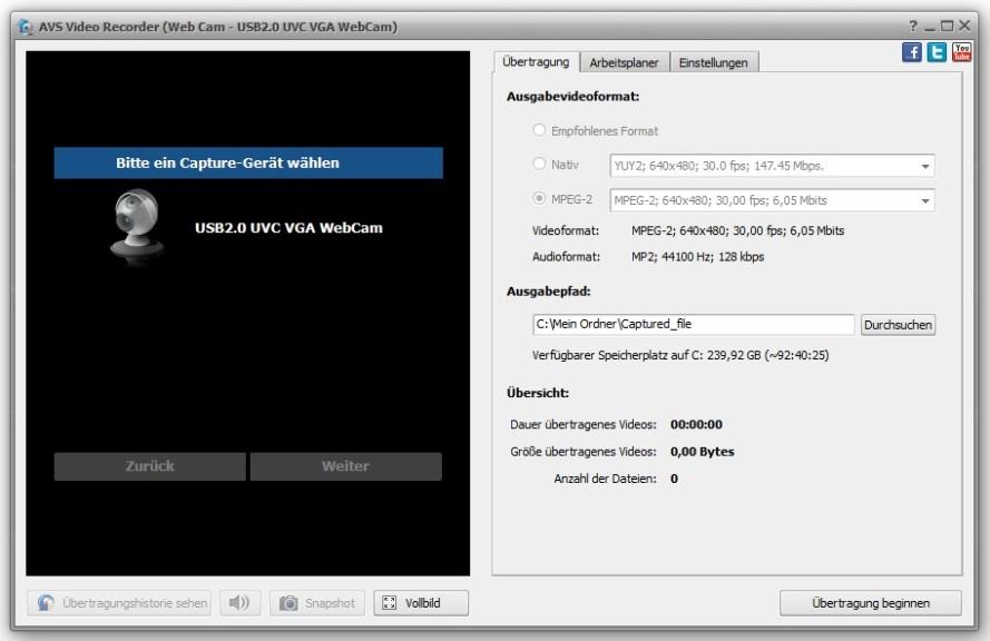 Screenshot 1 - AVS Video Recorder