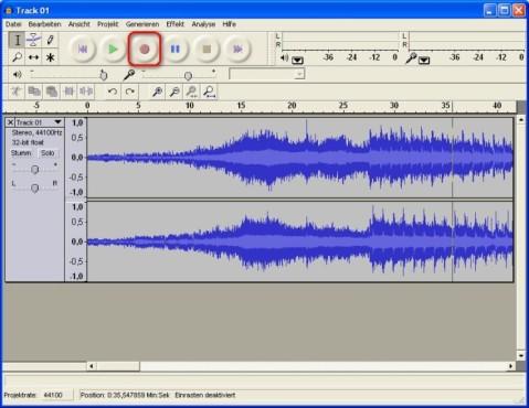 Audacity: Audio aufnehmen