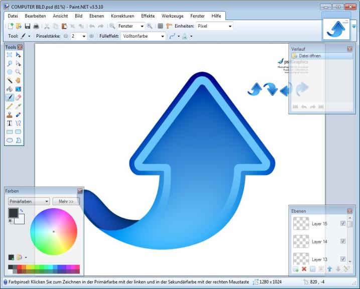 Screenshot 1 - Paint.NET PSD Plugin