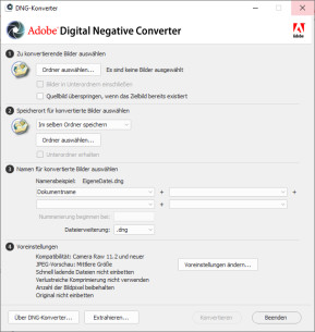 Adobe DNG Converter & Camera Raw