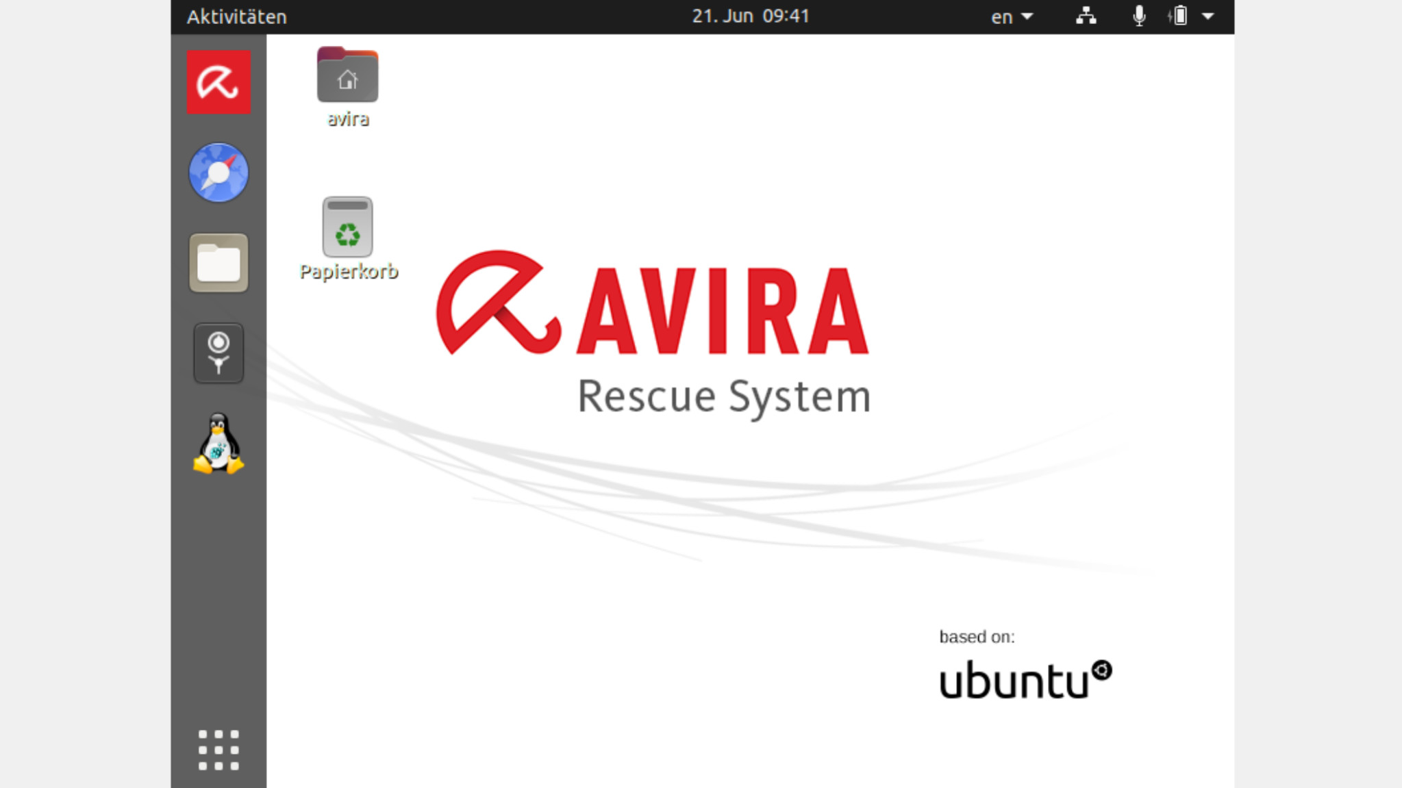 Screenshot 1 - Avira Rescue System