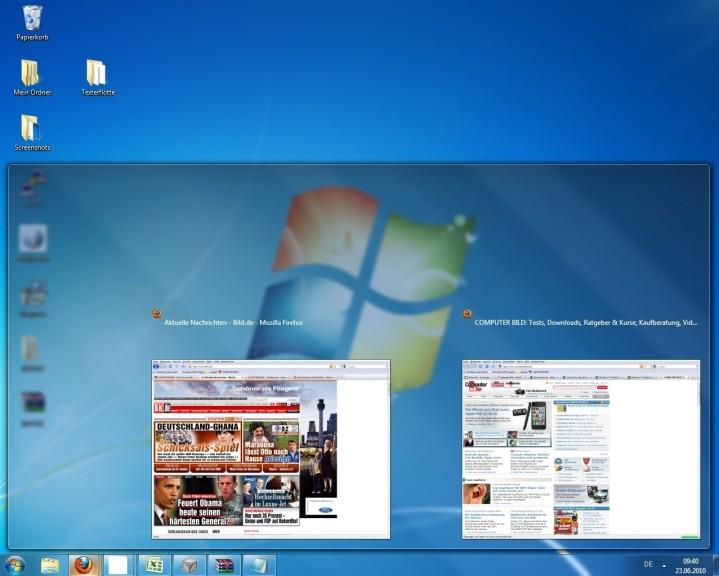 Screenshot 1 - Windows 7 Taskbar Thumbnail Customizer