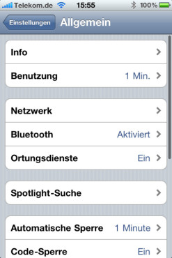 Apple iPhone: Ortungsdienst
