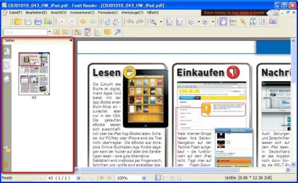 Foxit Reader: PDF-Strukturen anzeigen