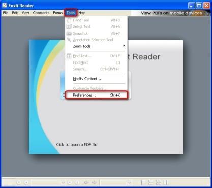 Foxit Reader: Spracheinstellungen auf Deutsch setzen