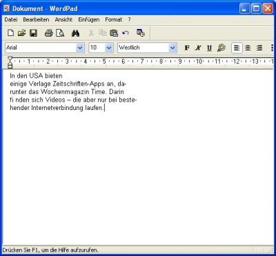 Foxit Reader: Text in andere Anwendungen kopieren