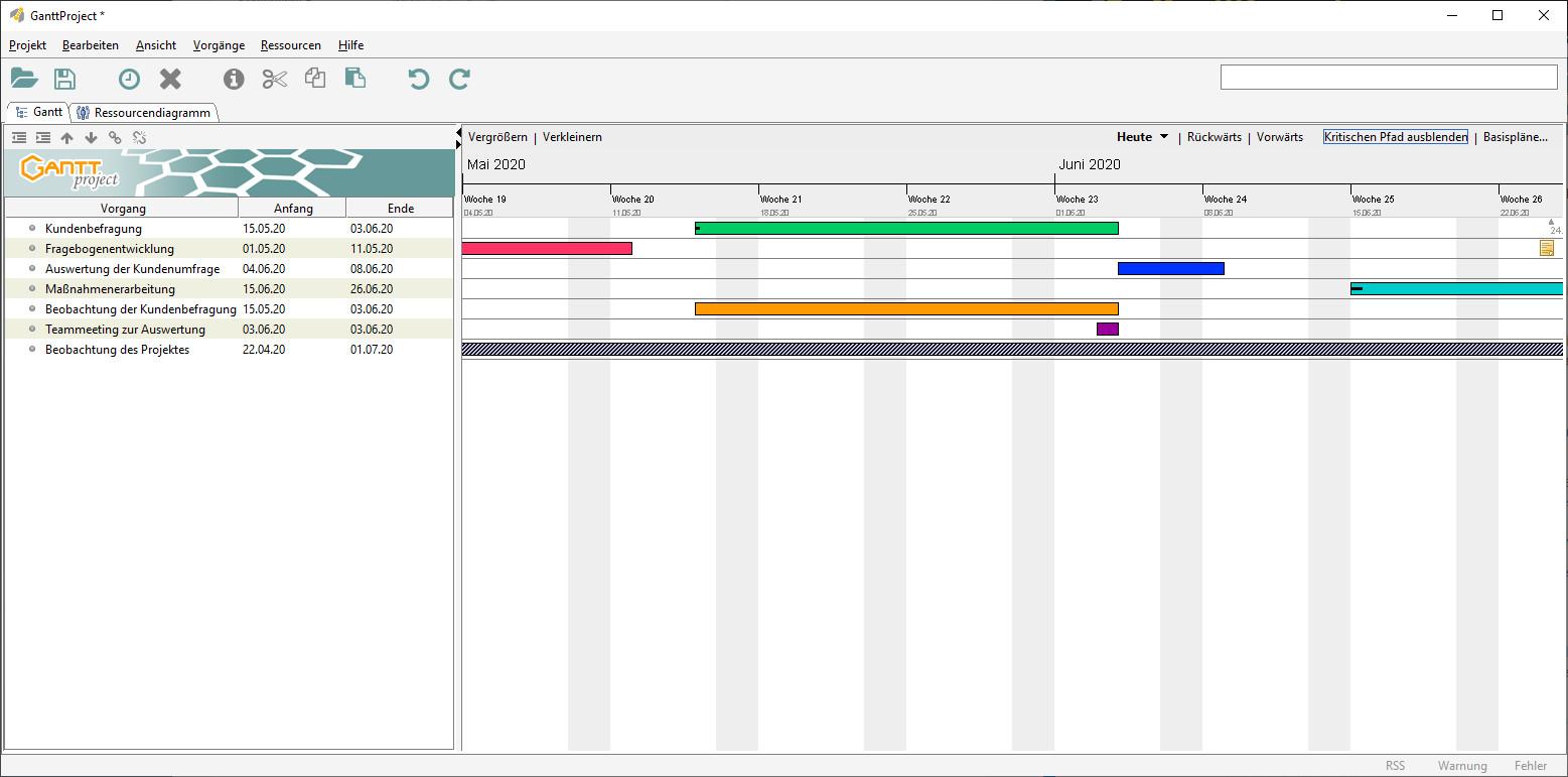 Screenshot 1 - GanttProject