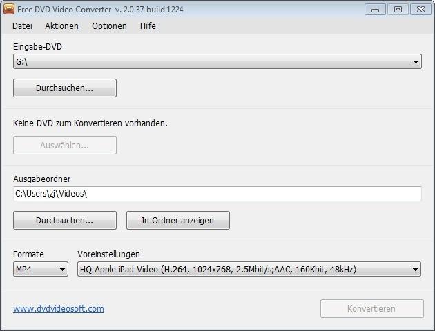 Screenshot 1 - Free DVD Video Converter
