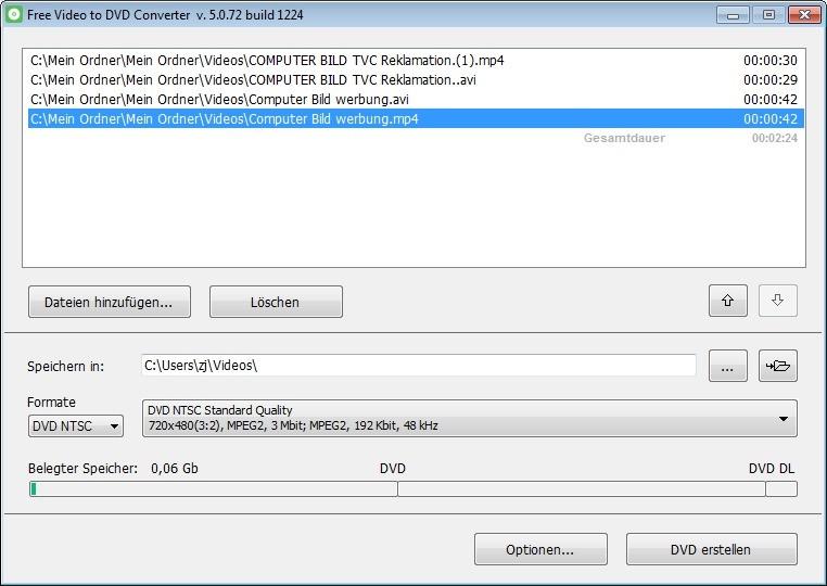 Screenshot 1 - Free Video to DVD Converter