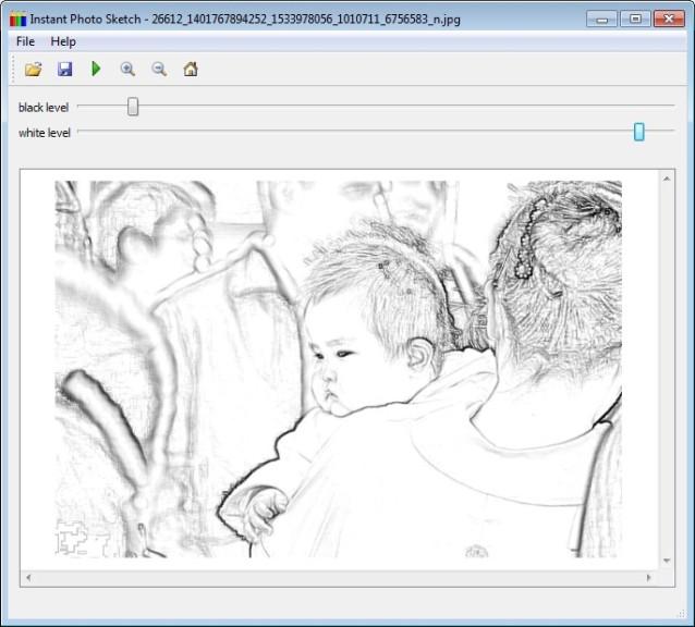 Screenshot 1 - InstantPhotoSketch