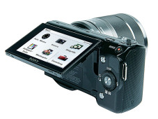 Klappbarer Monitor Sony NEX-5©COMPUTER BILD