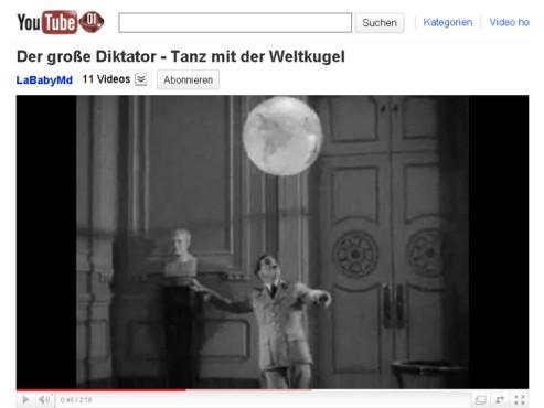 Der große Diktator – Weltkugelballett ©YouTube