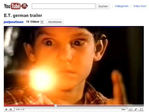 E.T. – Der Außerirdische – Nach Hause telefonieren ©YouTube