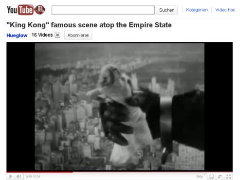 King Kong und die weiße Frau – Auf dem Empire State Building ©YouTube