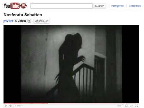 Nosferatu – Eine Symphonie des Grauens – Schatten ©YouTube
