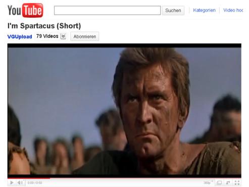 Spartacus – Ich bin Spartacus ©YouTube