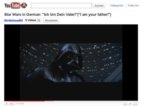 Star Wars: Das Imperium schlägt zurück – Ich bin dein Vater! ©YouTube