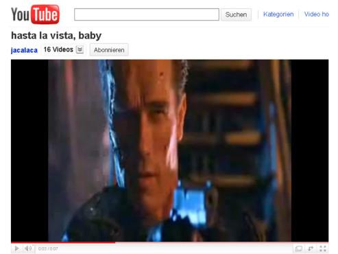 Terminator 2 – Der Tag der Abrechnung – Hasta la Vista, Baby! ©YouTube