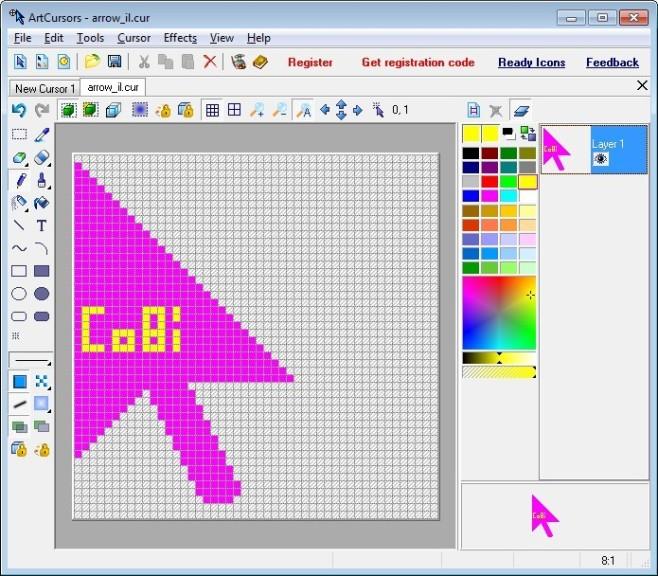 Screenshot 1 - ArtCursors